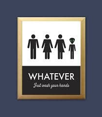 just bathroom signs. Unisex Bathroom Sign Funny Print By Bonmotprints Just Signs N