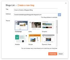 How To Create A Blog How To Start A Free Blog On Blogspot Blogger Platform