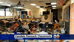 Interior Design Schools California Extraordinary Vandals In Riverside California Rip Apart Classroom At Wells Middle