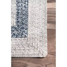 sure fire rectangular braided rugs nuloom solid borderline grey hand indoor outrood rug 7 6 x
