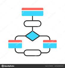 Interaction Of Processes Flow Chart Flow Diagram Color Icon Flowchart Elements Structure