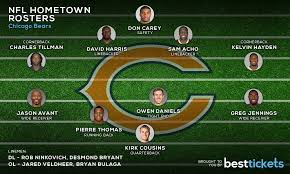 Chicago Bears Depth Chart 2018 The Nfls Hometown Rosters Best Tickets Blog