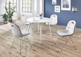 Tischgruppe Im Stil Der Fünfziger Jahre Esstisch Rund Weißweiß