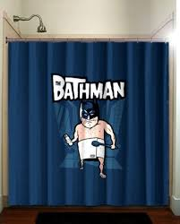 FUNNY BATHMAN CARTOON Unique Shower Curtain Bathroom Decor