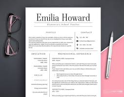 Modern Resume Etsy Resume Template 3 Pages Resume Template Word Modern Resume For Any Profession Instant Download Resume Resume Template Teacher