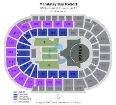 Mandalay Event Center Seating Chart Abundant Mandalay Bay Arena Seating Chart Ufc Mandalay Bay