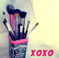 diy gl makeup brush holder