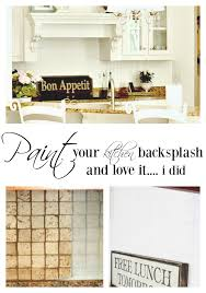 Painting Kitchen Tile Backsplash Cool Painting A Kitchen Backsplash Duke Manor Farm