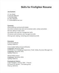 Firefighter Resume Template Simple Firefighter Resume Template Creerpro