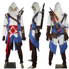 in 39 s creed 3 iii connor kenway cosplay costume costume w blue pants kids children s game toys make up costume ic con costume