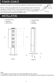 Craig Lighted Bluetooth Tower Speaker Cht909bt Bluetooth Tower Speaker System User Manual Cht910
