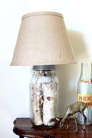 glass jar lamp mason jar table lamp you can make your own version in just minutes glass jar lamp