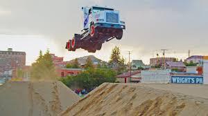 166ft Truck Jumping - Stunt Family Break Two World Records - YouTube