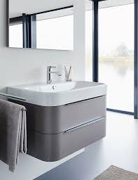 duravit happy d2 975mm white wall mounted vanity unit with wall hung countertop basin unit