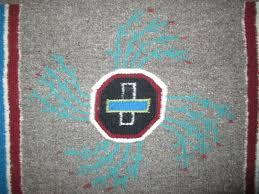 navajo sandpainting rug shooting way chant sandpainting weaving by navajo weaver