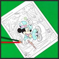 Free Mickey Mouse Template Download St Patricks Day Mickey Mouse Coloring Page For Kids Free