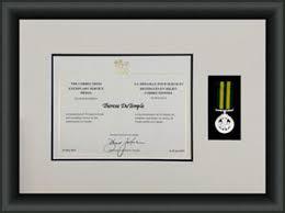 Sample Certificate Award Custom Certificate Award Frame