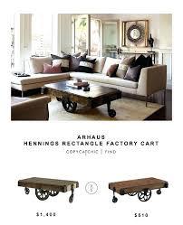 coffee table s copper arhaus bertogne cof