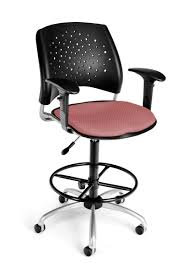 modern drafting chair. OFM - Coral Pink Modern Stars Drafting Chair With Adjustable Arms A