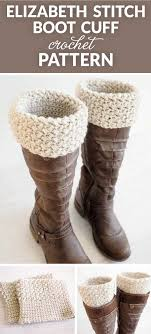 Boot Cuff Pattern Best Elizabeth Stitch Boot Cuff Crochet Pattern Dabbles Babbles