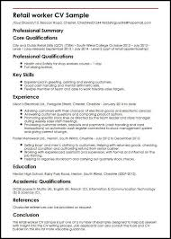 Cool Cv Template Uk Retail Picture Ai
