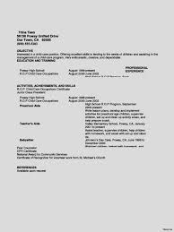Prominent Babysitter Resume Templates Graceful Example Mesmerize ...