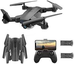 SGOTA <b>RC</b> Drone with <b>Dual</b> 720P HD 2mp <b>Cameras Foldable</b> FPV ...