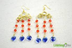 the diy chandelier earrings consist of numbers of radiant glass beads so that they can shin in light all the time besides to make pairs of diy earrings