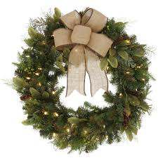 Lighted Holiday Bow Home Accents Holiday 30 En Led Pre Encendido De Navidad
