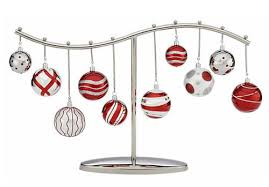 Christmas Ornament Display Stands Classy Crate And Barrel Ornament Centerpiece