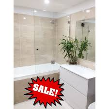 frameless over bath tub panel door 1000