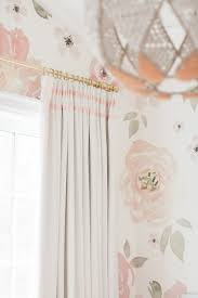 Click here to buy Monika's Nursery Drapery featuring our House Linen top  tack panels in colour
