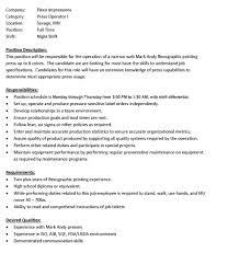 Warehouse Forklift Operator Job Description For Resume Forklift Operator Job Description Duties Warehouse For Resume 16