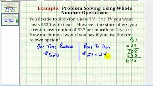 example of problem solving comparing purchase versus rent to own example of problem solving comparing purchase versus rent to own cost