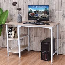 office desk shelves. Aliexpress.com : Buy Goplus Computer Desk PC Laptop Table Workstation Study Writing With Shelves Home Office Modern Furniture Tables HW55393 From