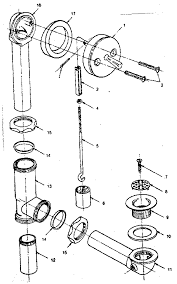 bathtub plumbing diagram exploded parts