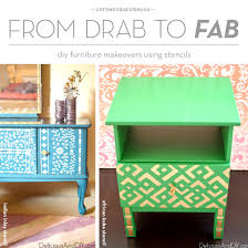 From Drab to Fab Furniture Makeovers Using Stencils