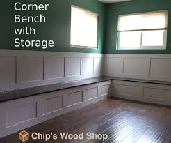 Furnitures No Finish Banquette Corner Bench Seat With Storage Etsy