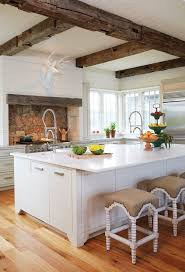 rustic white kitchens. Rustic White Kitchen With Exposed Beams. Kitchens 7