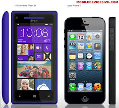 htc windows phone 8x. iphone 5 and htc 8x size comparison (side, front) htc windows phone 8x