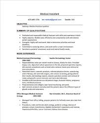 Free Healthcare Resume Templates Medical Assistant Resume Template Medical  Assistant Resume Samples