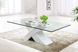 wayfair contemporary coffee tables glass design glass rectangular modern wooden carpet fur brown plant white transparant