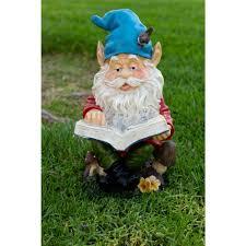 alpine corporation gnome reading book statuary