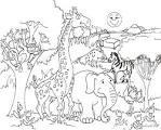 Животных играть раскраска