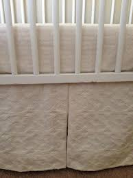 baby bed skirt crib skirt baby bedding neutral luxury oatmeal cream cotton luxe collection in stock ready to ship