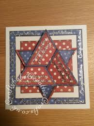 Star Fold Engagement Card2 Craftybabs Creative Crafts