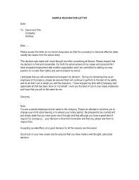 Sample Of Resignation Letter From Jobs How Do You Write A Resignation Letter Example To Make Notice