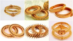 Latest South Indian Bangles Design South Indian Bridal Traditional Gold Bangle Designs Simple
