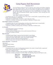 Camp Counselor Resume Examples - April.onthemarch.co