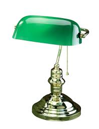 lamp green top notch library brass desk glass adjule genius australia image is loading underwriters laboratories pull chain vintage nz table lamps
